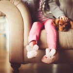 Little Girl With Puppy